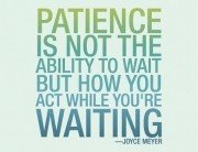 Patience Pays In Corporate Life